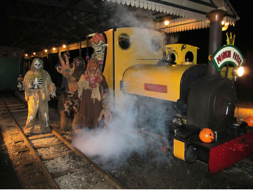 Halloween Monsters take over the train