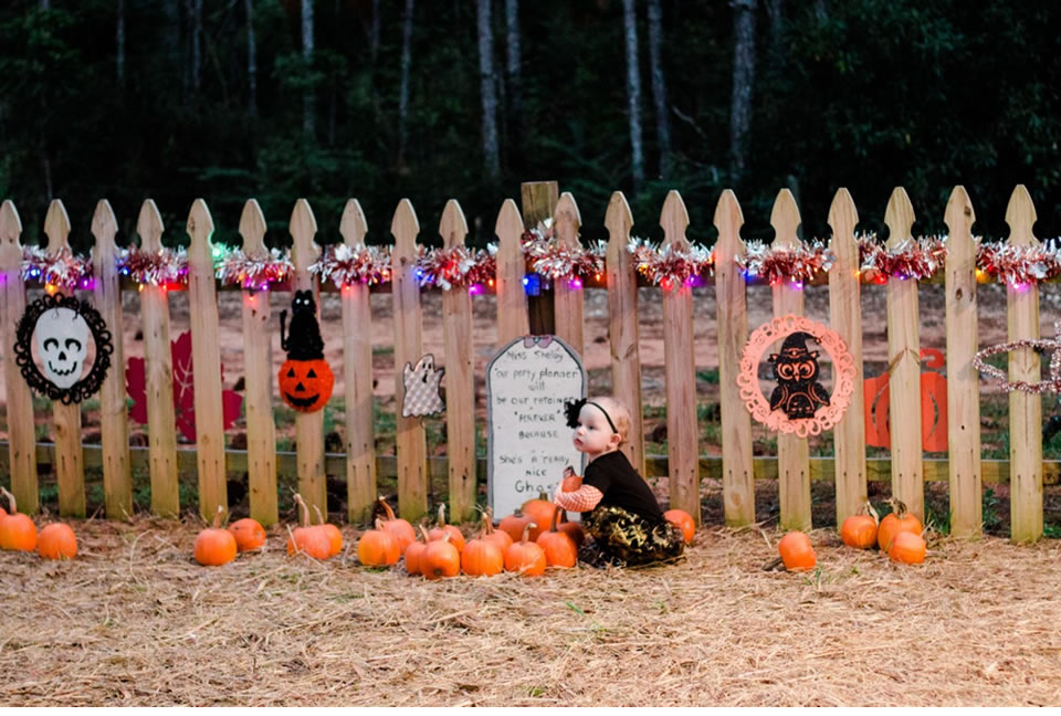 Baby In The Pumpkin Patch