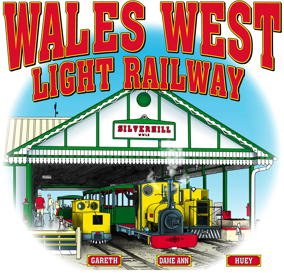 Catch the train on the waiting platform at Wales West